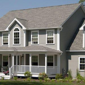 House exterior with white Vinyl Replacement Windows in San Antonio, TX