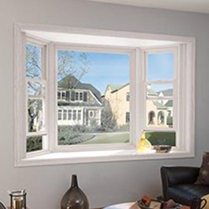 Bay window in a living room