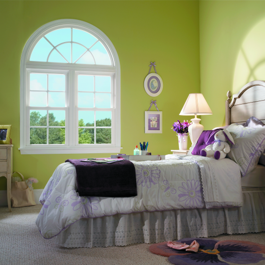 Double hung window interior room in Austin, TX