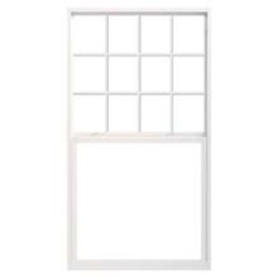 single hung window traditional grille