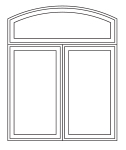 Sliding window archhead over 2 wide