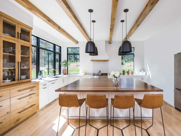 Kitchen with Island with Cheap Replacement Windows, Vinyl Replacement Windows, and Double Hung Windows in Austin, Texas